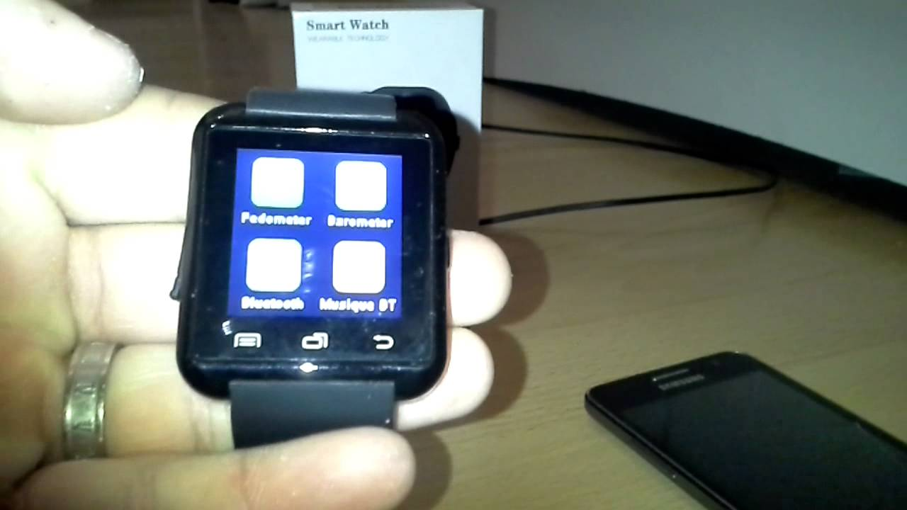 Smartwatch u8 BT notification