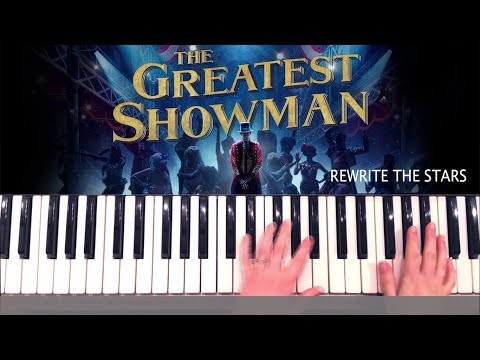 Rewrite the Stars - The Greatest Showman Piano Tutorial and Chords