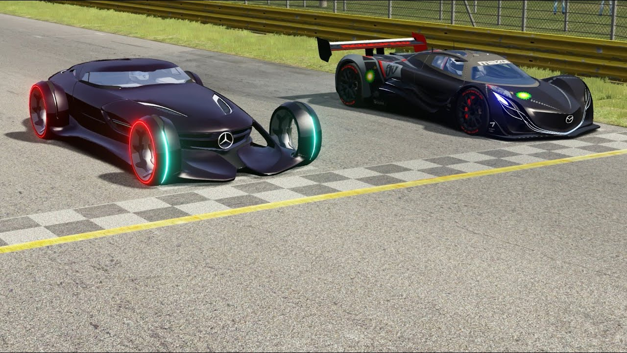 Mercedes Benz Silver Arrow Vs Mazda Furai At Monza Full Course Youtube