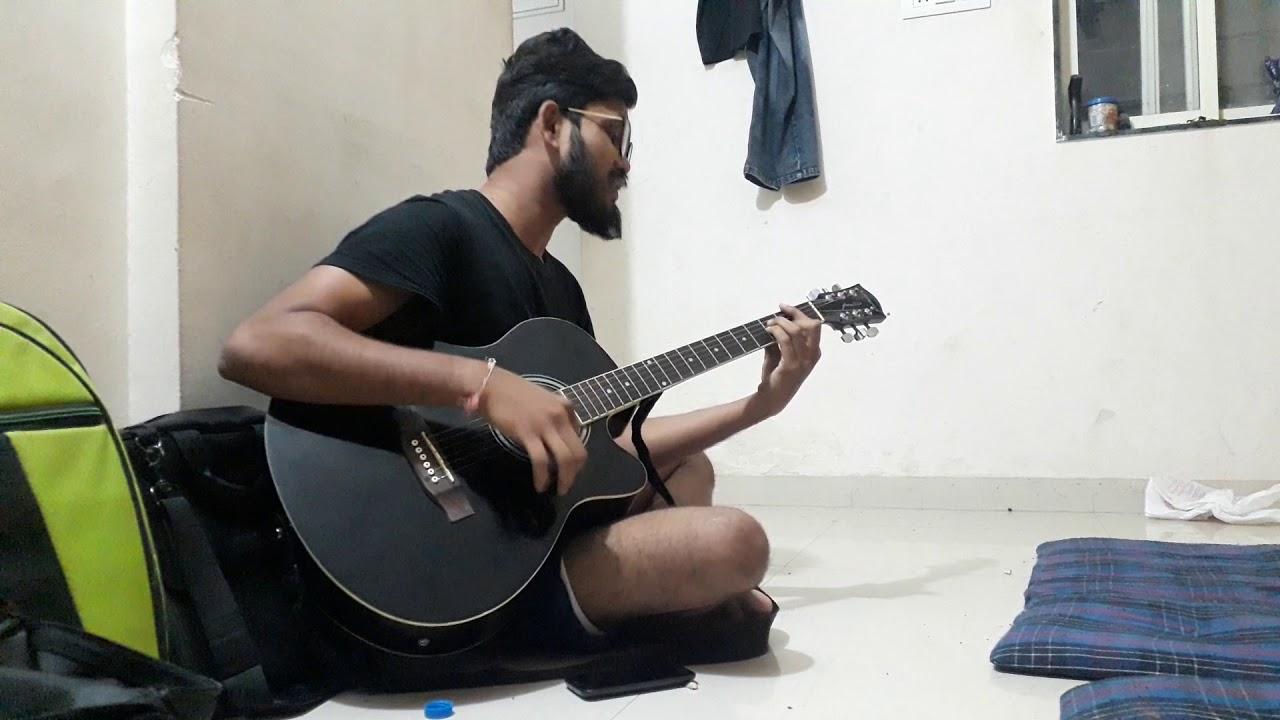 Uska Hi Bana Guitar Cover Youtube