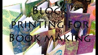 Craft Ideas - Block Printing Book Making