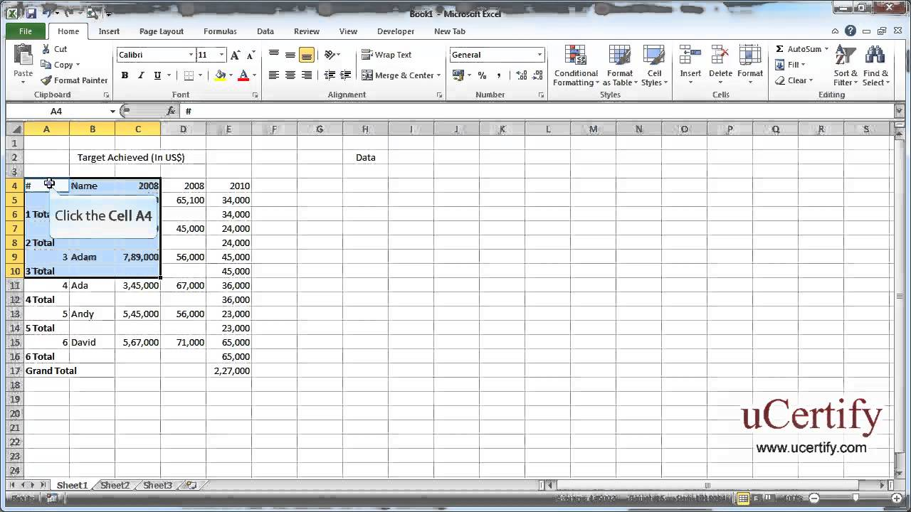 how to add cells in excel 2007
