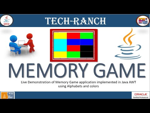 Live Demonstration of Memory Game using Java  SWING GUI API   Java Game Projects   @Tech-Ranch  