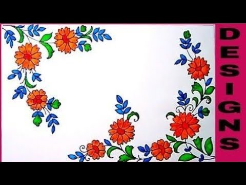 esay-pencil-art-hand-embroidery-saree-designs-sketch,with-colour-draw-floral-embroidery-pattern