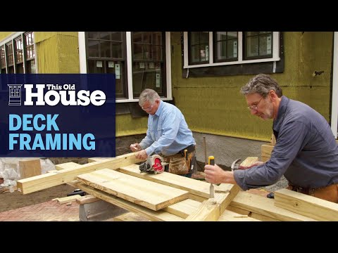 How to Frame a Simple Deck   This Old House
