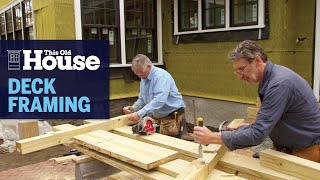 How to Frame a Simple Deck | This Old House