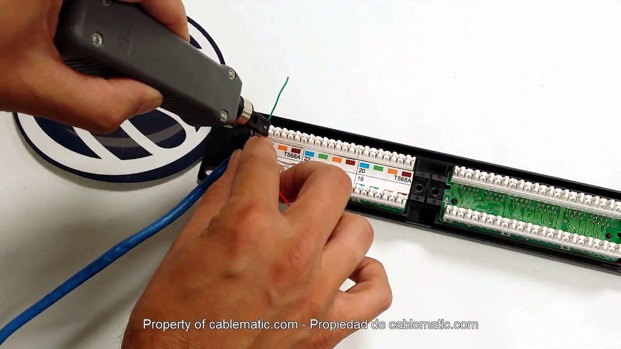 Schema Cablaggio Rete : Come applicare la patch in patch panel rj45 tb110 con avvitatore