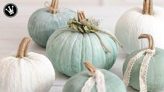 DIY - Herbstdeko   Kürbisse bemalen   Heirloom Kürbisse selbermachen   Kürbisse designen   How to