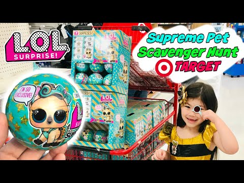LOL SURPRISE SUPREME PET SCAVENGER HUNT AT TARGET! LUCKY LUXE EYE SPY PETS SERIES 4 L.O.L. UNBOXING