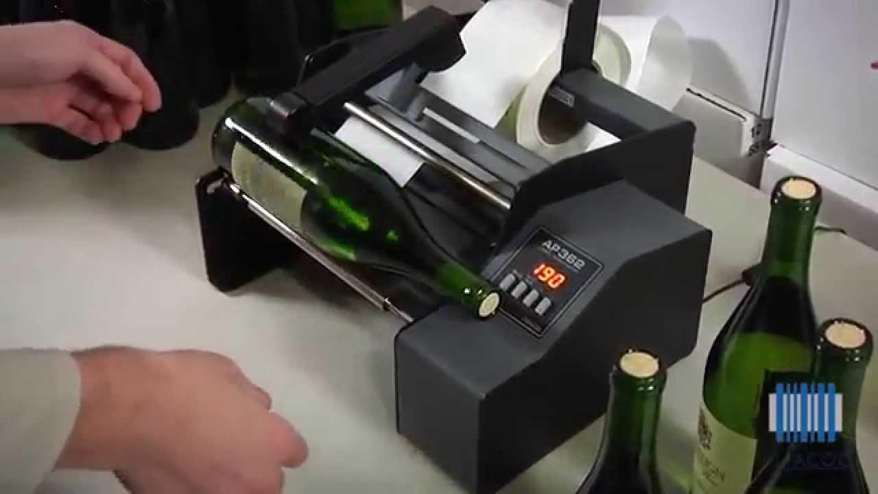 Super Alfacod: come produrre e applicare etichette per bottiglie in modo  EU05