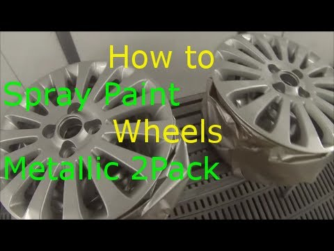 How to paint alloy wheels silver metallic 2 pack youtube for How to make silver paint