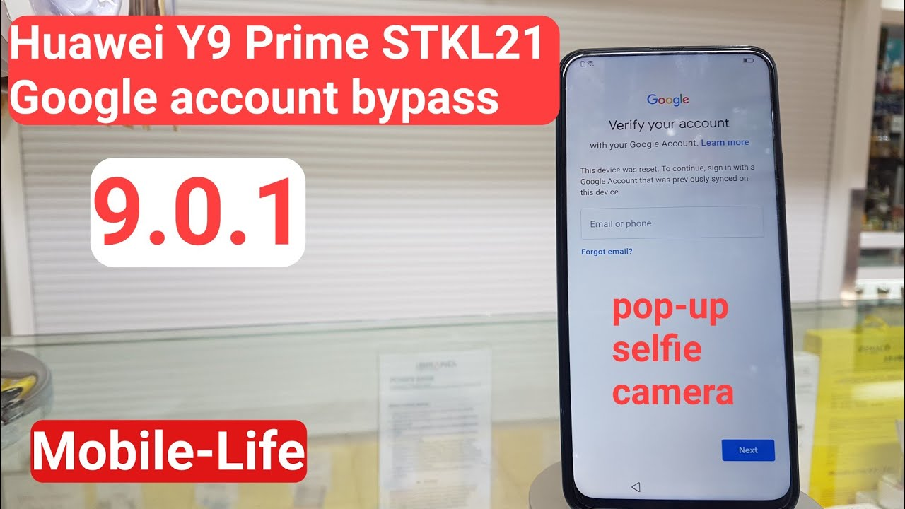Huawei Y9 Prime [ pop up camera] 2019 FRP Bypass STK-L21 EMUI 9 0 1  Security path May 05 2019