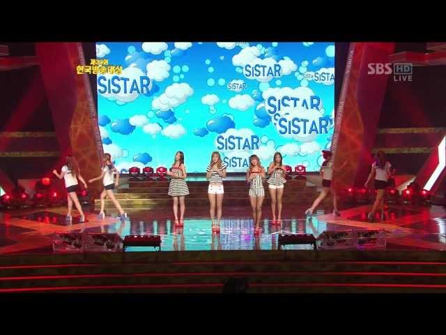 120903 한국방송대상 SISTAR LovingU 씨스타 러빙유