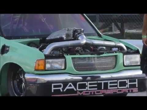 Street Outlaws Sonoma vs Froggy Turbo pickup at the Winter Meltdown Race