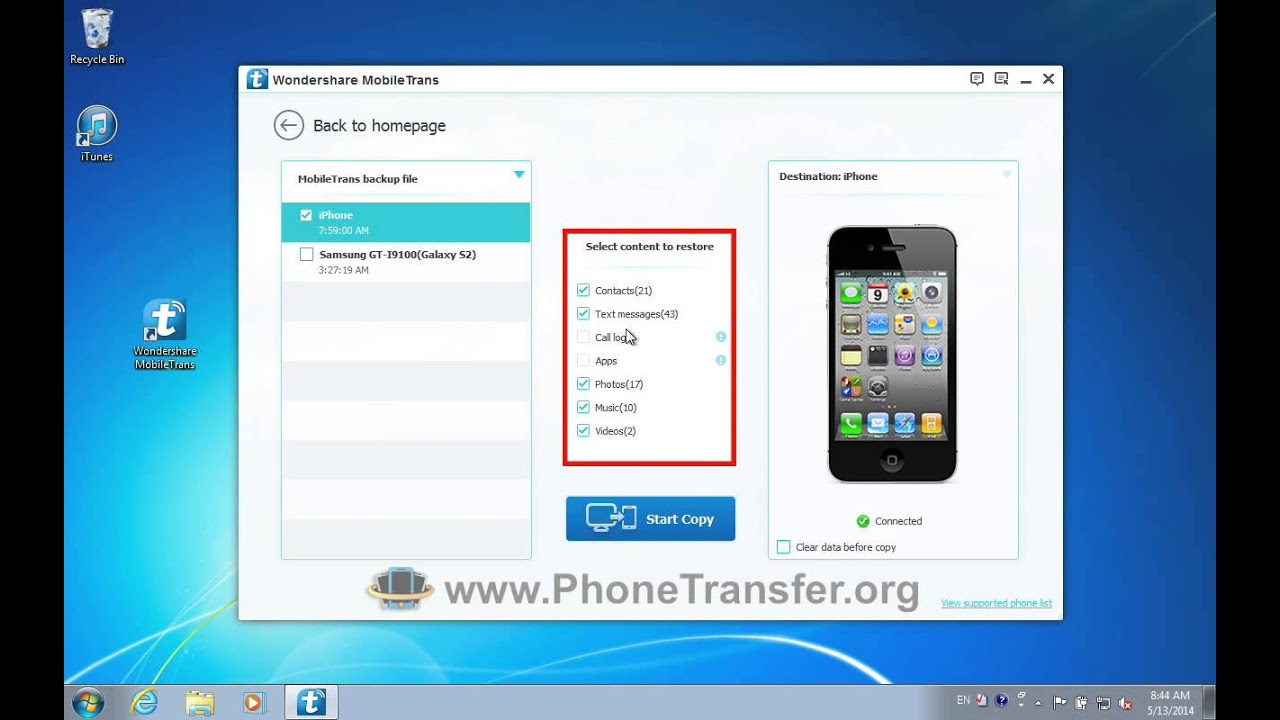 how to backup iphone 5 how to restore mobiletrans backup files to iphone 5s 5c 5 1475