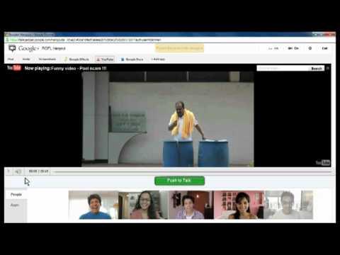 Google+ hangouts on YouTube