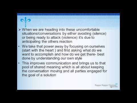 Conflict Management and Crucial Conversations