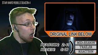 Star Wars Rebels Season 4 Mid-Season Trailer Reaction & Review -- EMPEROR PALPATINE & MORTIS