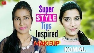 Super Style Tips [Komal] Inspired Makeup Look | |  HD 720pix