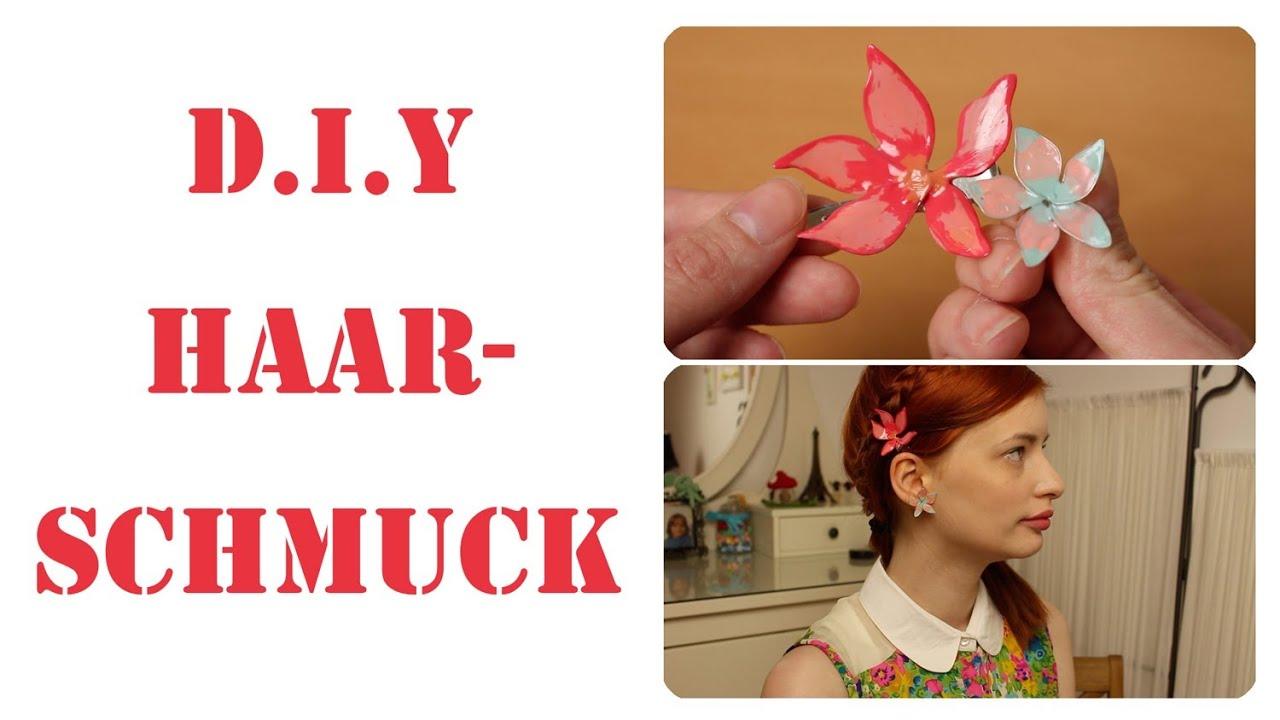 D.I.Y Drahtblumen aus Kleber Draht und Nagellack - YouTube