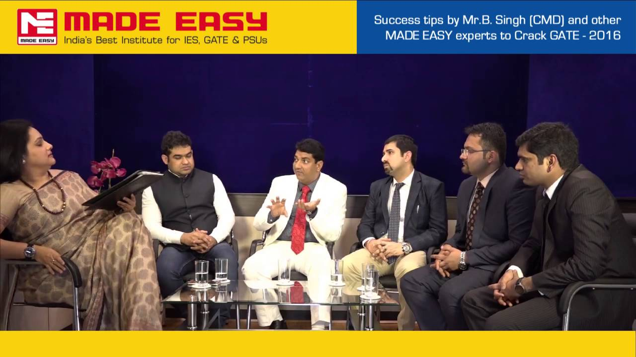 success tips for gate 2016 by mr b singh cmd made easy and