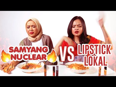 Tes Keawetan Lipstick Lokal vs Samyang Nuclear!