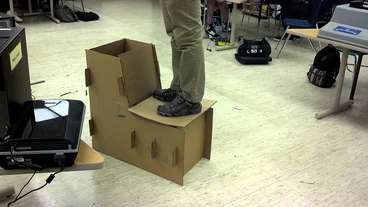Cardboard chair design no glue - Epic Cardboard Chair Fail