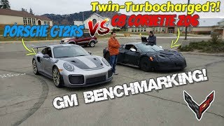C8 Corvette Z06 to be Twin Turbocharged afterall? Benchmarking against a GT2RS and MORE!