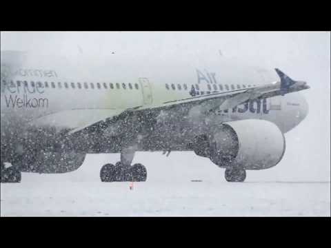 Heavies in Heavy Snow at Toronto Pearson YYZ Feb. 2017