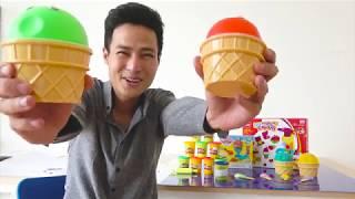 Play Doh Toys For Kids with Kiu Man | Rainbow Toys