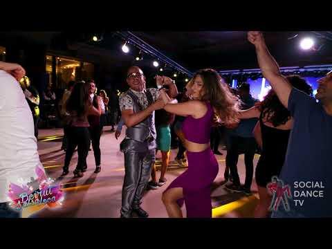 Edwin Rivera & Hiba Kawoukji - Bachata social dancing | Beirut Salsa Loca 2018