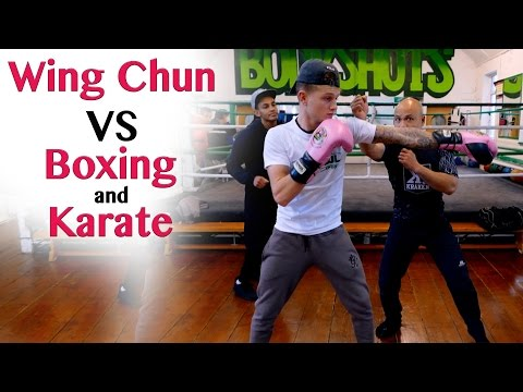 Wing Chun vs Karate and Boxing Destroy the Jab