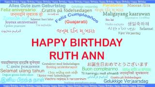 RuthAnn   Languages Idiomas - Happy Birthday