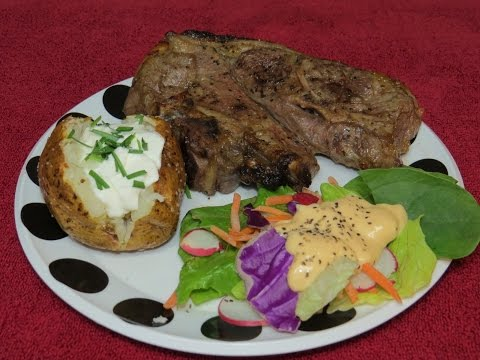 Easy Lamb Shoulder Chops Marinated In Sweet Onion Marinade And Cooked In The Toaster Oven