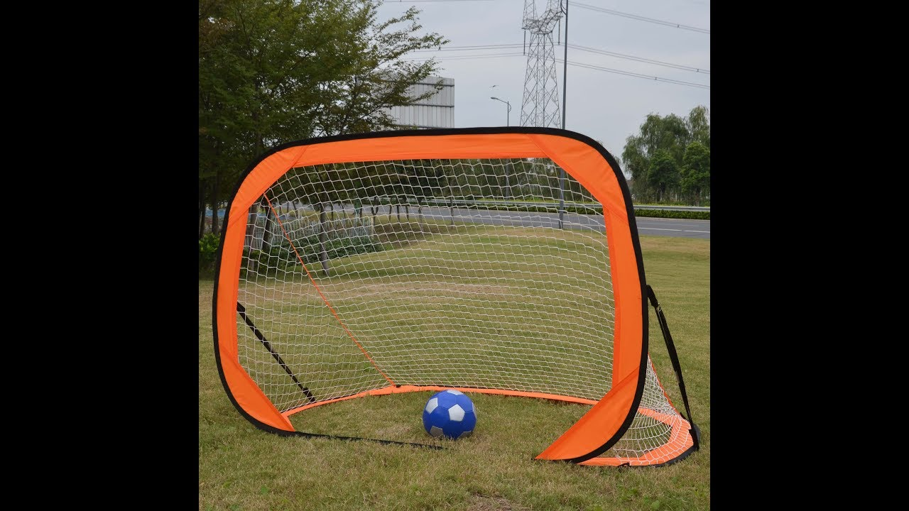 How To Fold 6x4 Soccer Goal, Portable, Pop Up, Practice