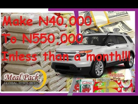 Make Money in Nigeria With MealPack Global Resources Scheme - Within 30 days.