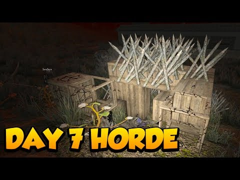 THE DAY 7 HORDE IN A BUNKER! - 7 Days to Die Alpha 16 Multiplayer Gameplay #8