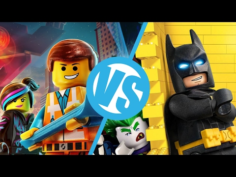 the lego movie vs the lego batman movie : movie feuds ep180 - youtube