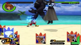 Sora Vs. Ansem at Destiny Islands KH 1-Style in Kingdom Hearts Re: Chain of Memories!