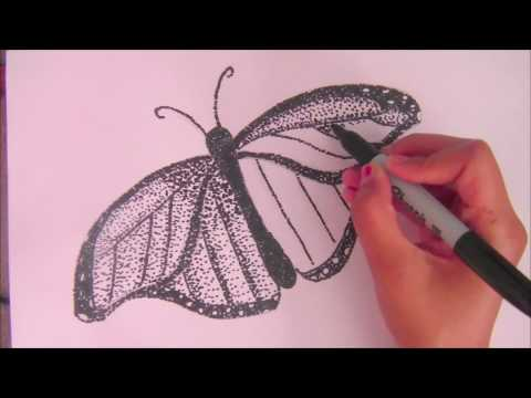 Butterfly Step By Step Stippling Tutorial