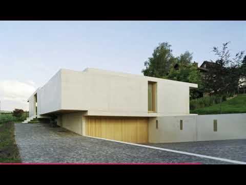 Superior The One Storey Slightly Inclined Modern House Overlooking The Alps Idea
