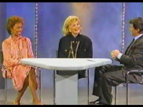 1988 BARBARA SINATRA & ALTOVISE DAVIS (Mrs. Sammy Davis) on TOM DREESEN's Chicago TV show