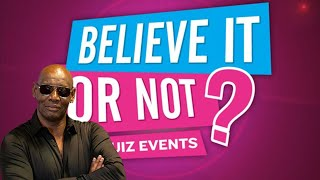 Believe It or Not Live with SHAUN WALLACE! - 8/04/2020