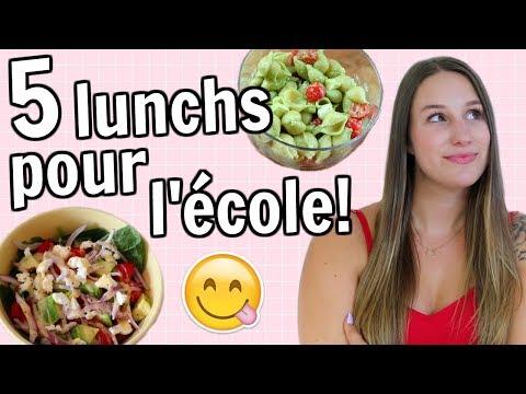 5 LUNCHS POUR L'ÉCOLE! | Amélie Barbeau