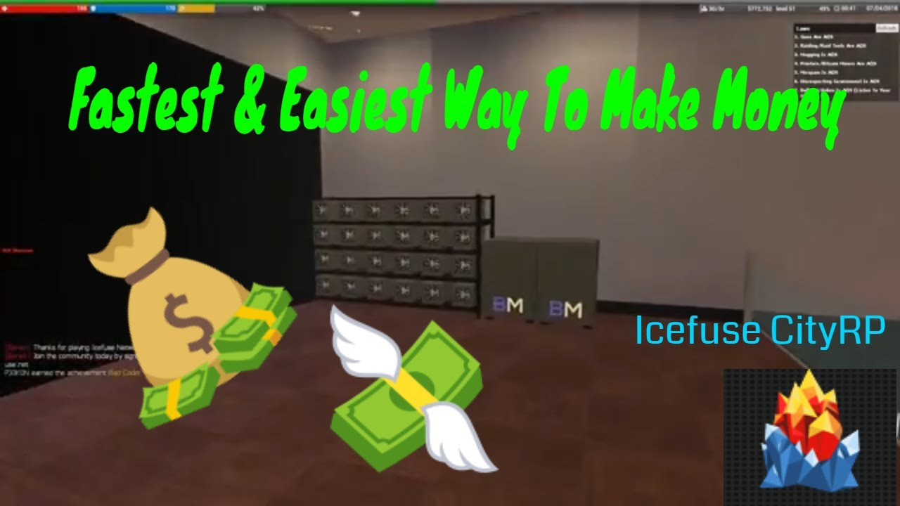 How To Make Money The Easiest and Fastest | Icefuse CityRP by Ajax 2019