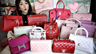 HONEST MINI REVIEW for PINK RED HANDBAG WORST TO BEST COLLECTION 2020 CHARIS