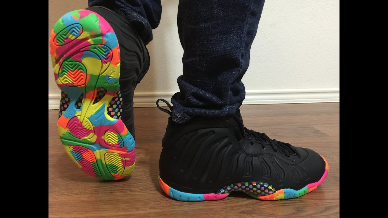premium selection f1392 c782e Surprising Sneakergirl79 with the Nike Lil Posite Black Fruity Pebbles  unboxing & on feet review!