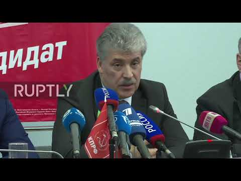 Russia: Communist pres. candidate Grudinin calls for re-election limit
