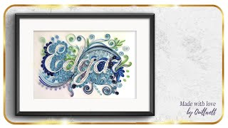 How to make quilling name  Edgar