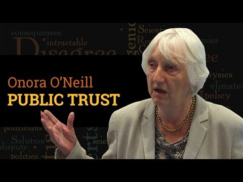 How should scientists engage with a distrustful public? | Prof Onora O'Neill (Q&A, 2017)